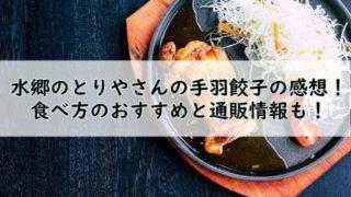 水郷のとりやさんの手羽餃子の感想!食べ方のおすすめと通販情報も!